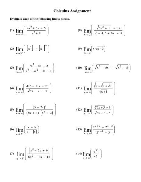 Calculus 2 Worksheets Worksheets For All