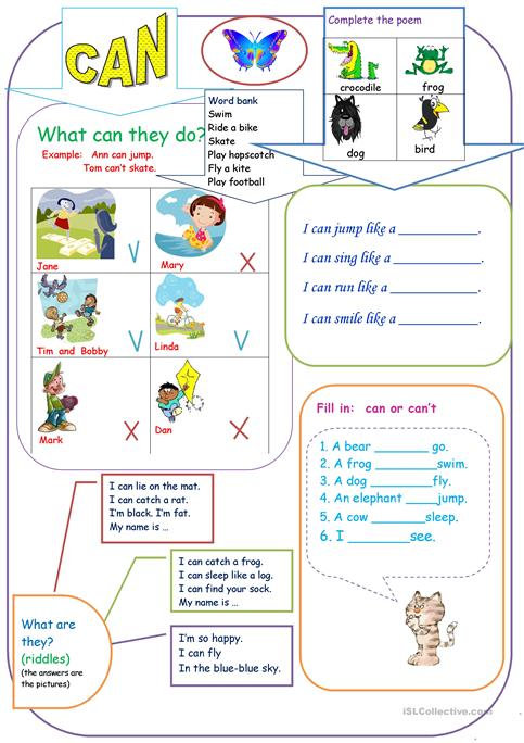 Can For Kids Worksheet