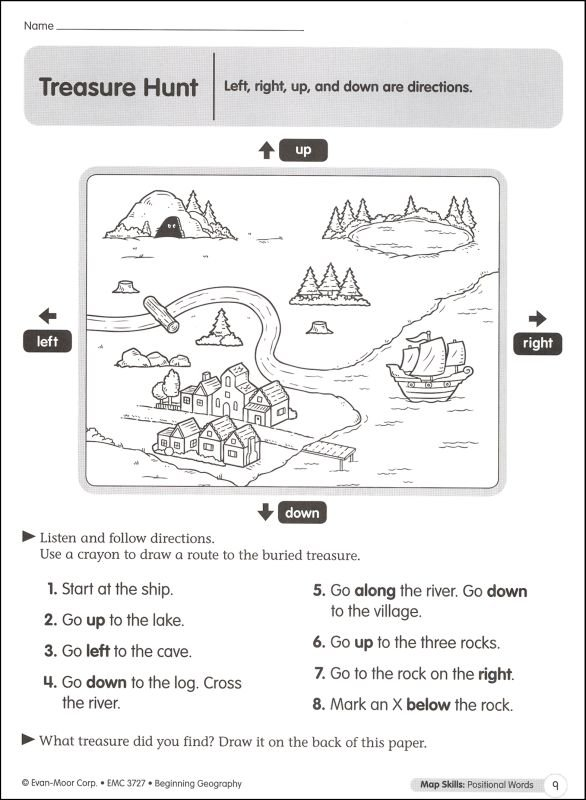 Cardinal Directions Worksheets 1st Grade