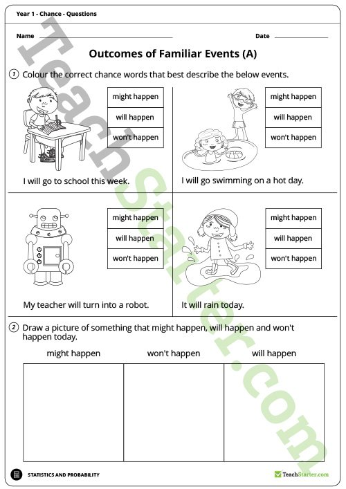 Chance Worksheets