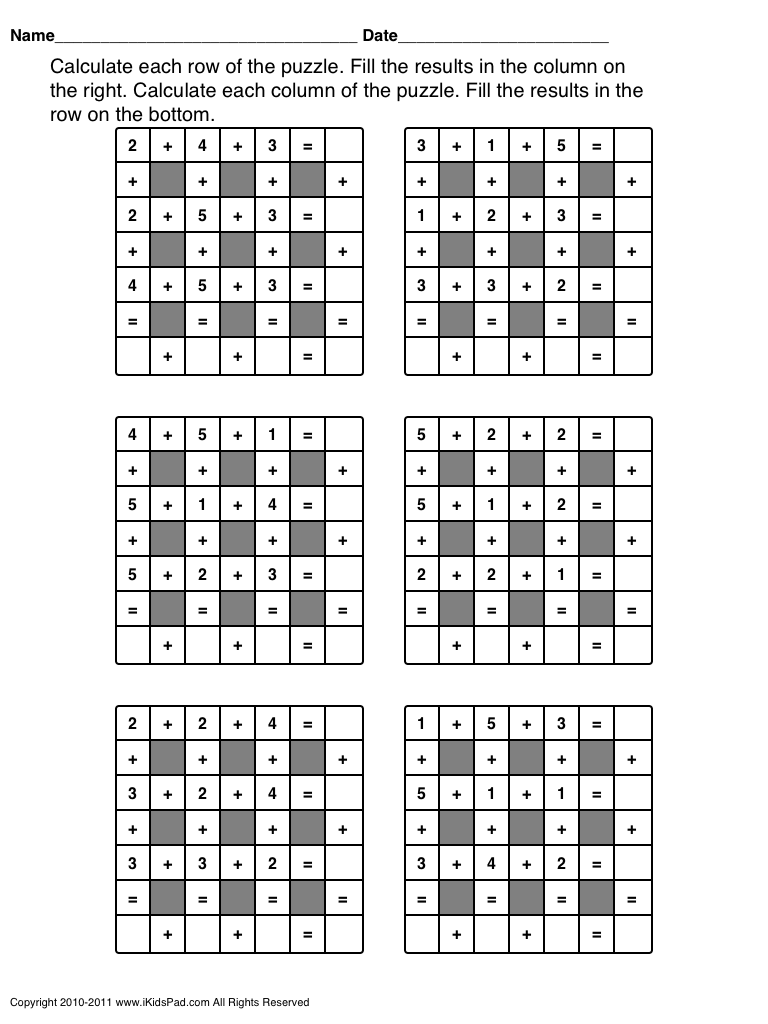 Charming Middle School Math Puzzles Pdf Images