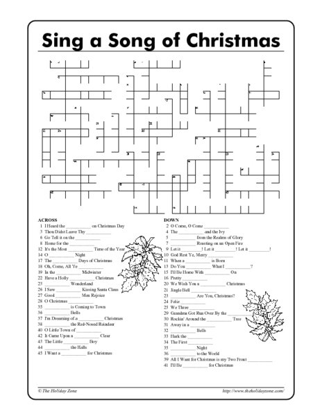 Christmas Language Arts Worksheets Middle School