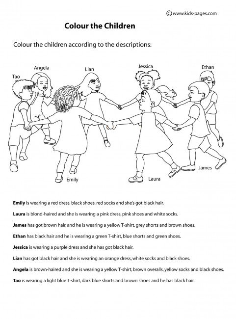 Clothes And Colours 2 Worksheets