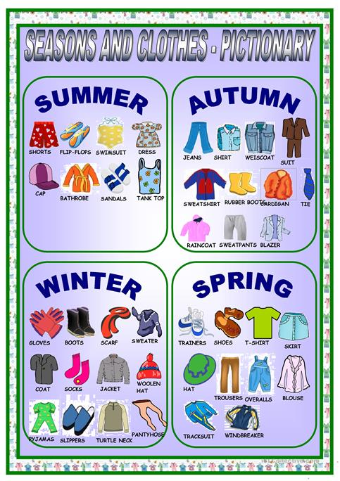 Clothes And Seasons