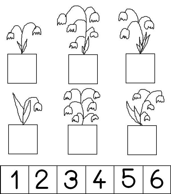 Coloring Page Preschool Worksheets Spring   Stick The Number Of
