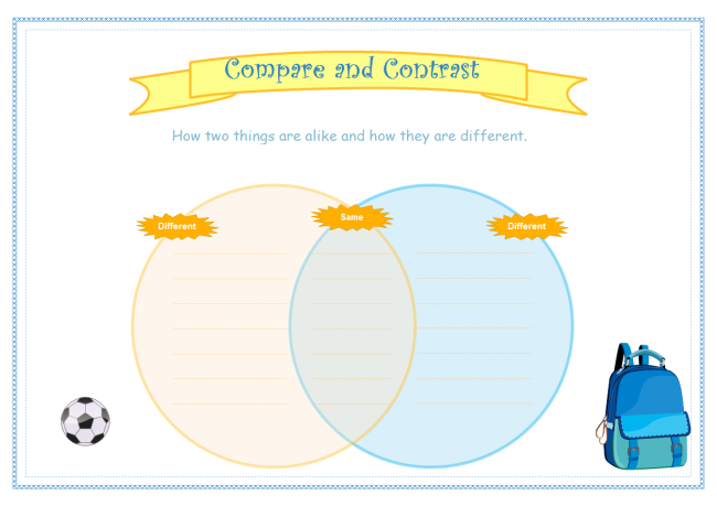 Compare And Contrast Venn