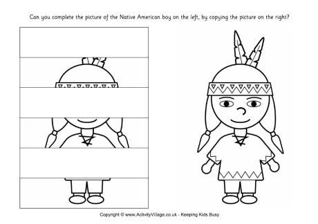 Complete The Native American Boy Puzzle