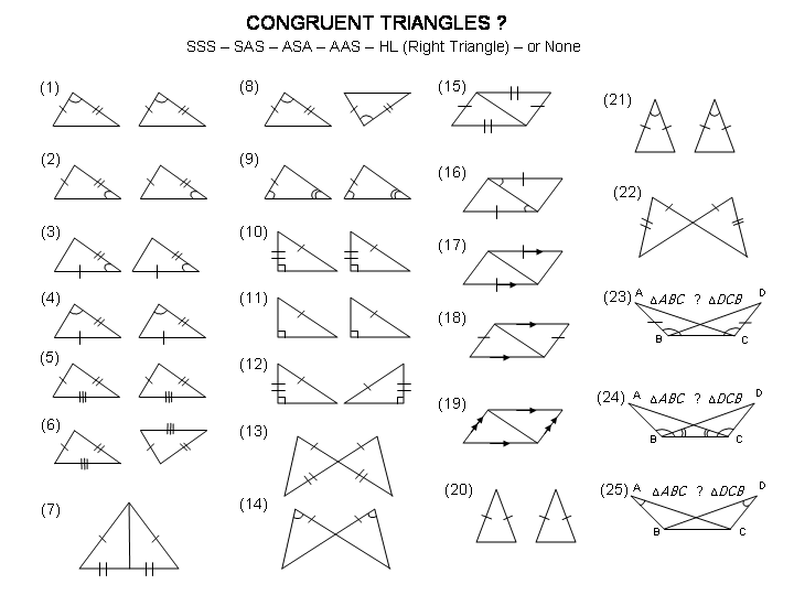 Congruent Triangles Worksheet Geometry Worksheet Congruent Free