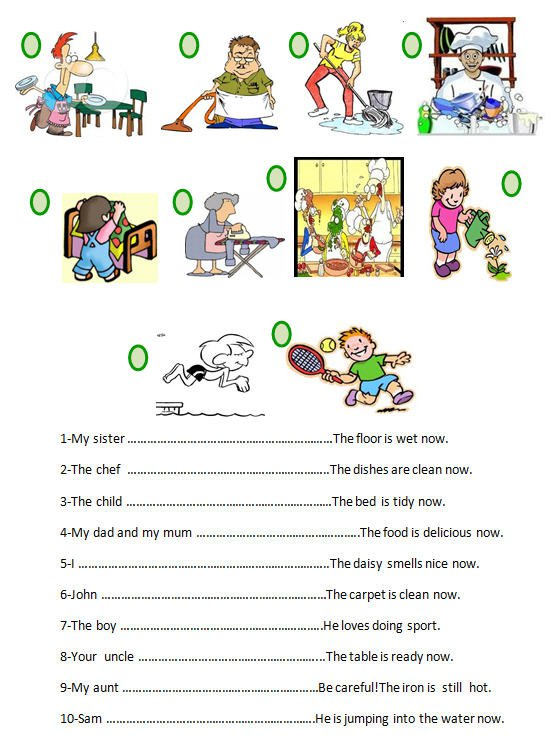 Continuous Tense Worksheet