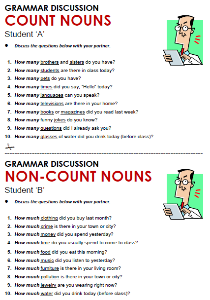Count And Noncount Nouns Worksheets Worksheets For All