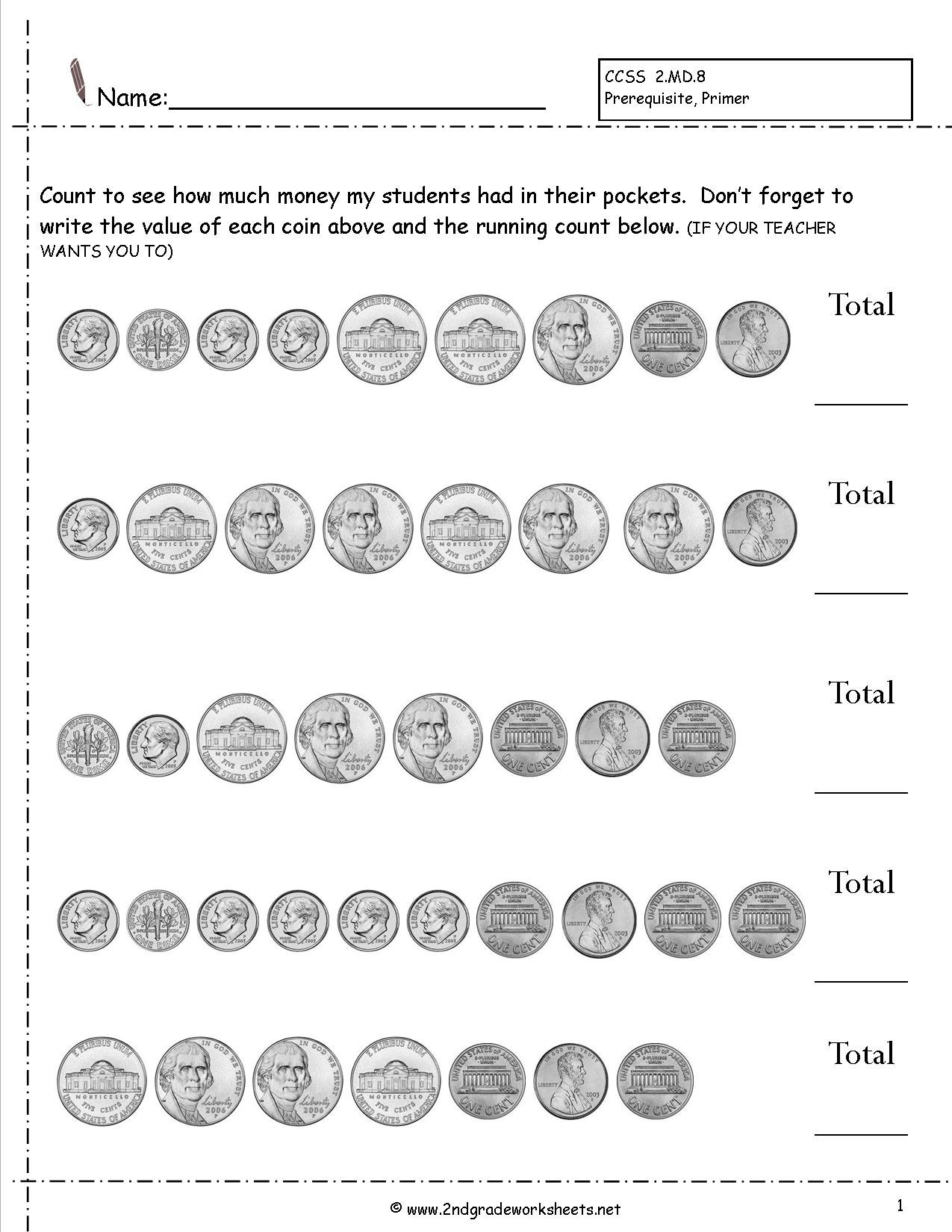 Count Money Worksheets The Best Worksheets Image Collection