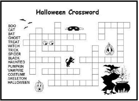 Crossword Halloween Puzzles By Kawarbir