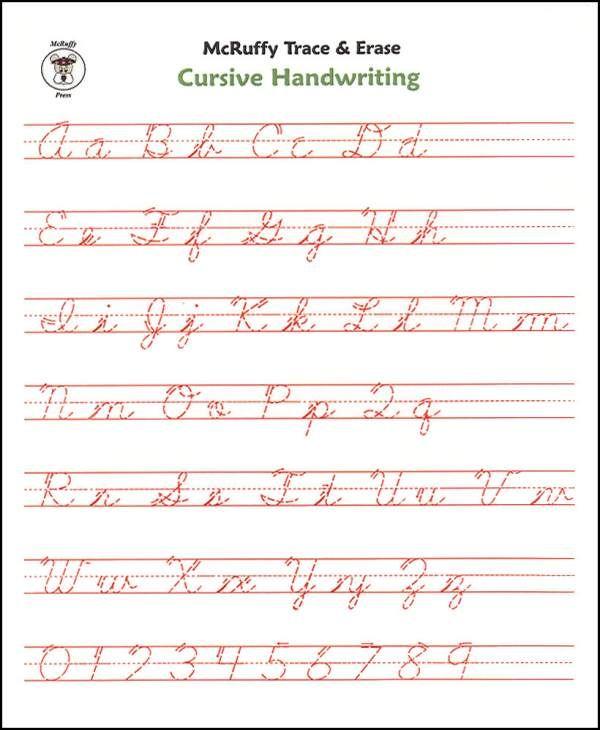 Cursive Writing Worksheets