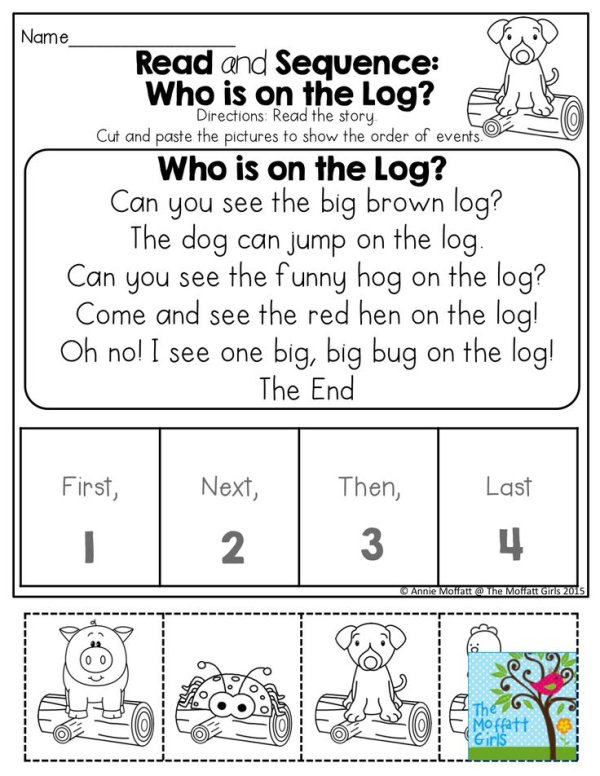 Cut And Paste Sequencing Worksheets For First Grade
