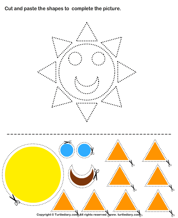 Cut And Paste Shapes Activities