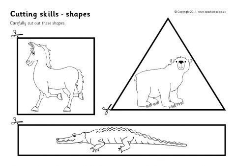 Cutting Skills Worksheets – Shapes (sb4523)