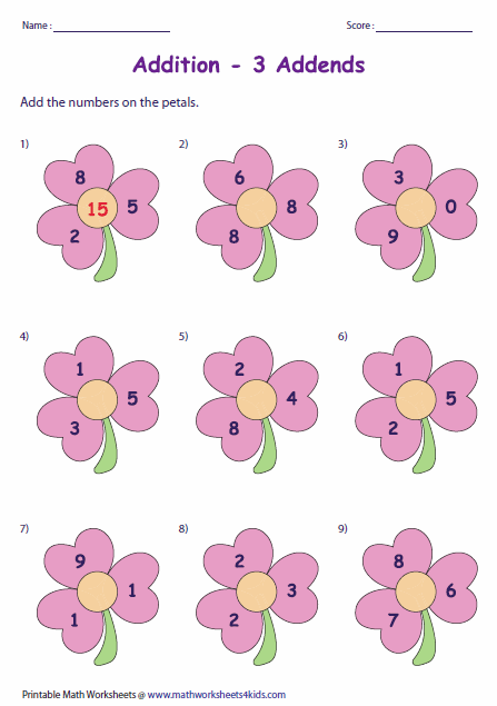 Digit Addition Worksheets