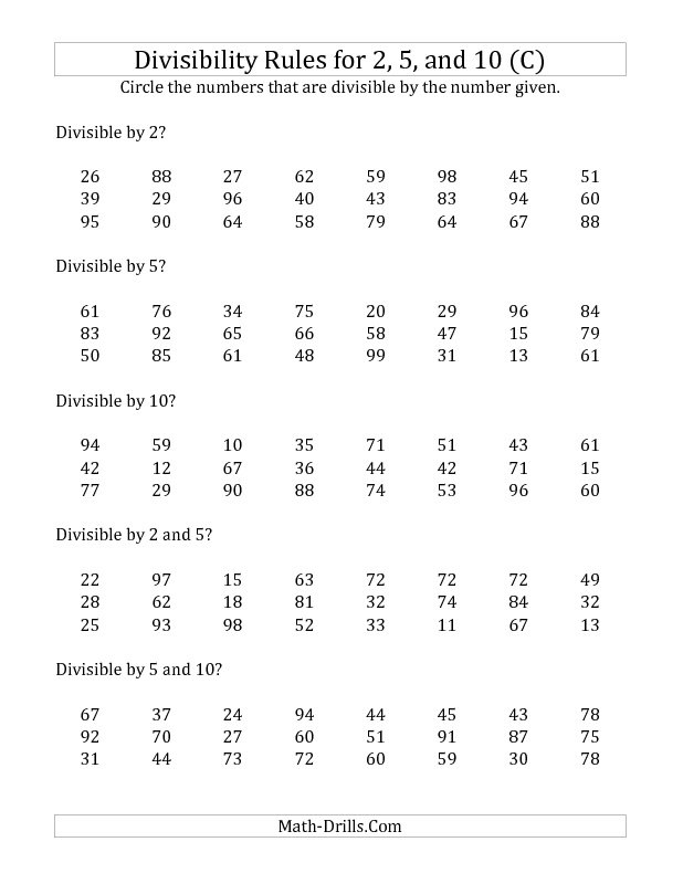 Divisibility Rules Worksheet 34 Best Divisibility Rules Images On