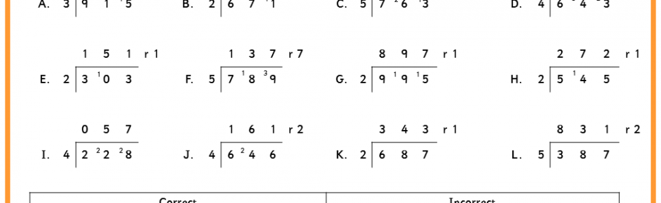 Division Worksheets Ks2 Bus Stop Method