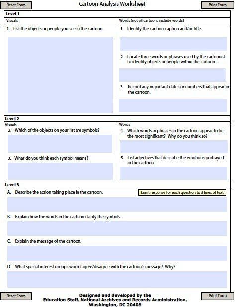 Document Analysis Worksheet Worksheets For All