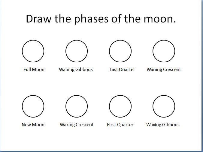 Draw The Phases Of The Moon