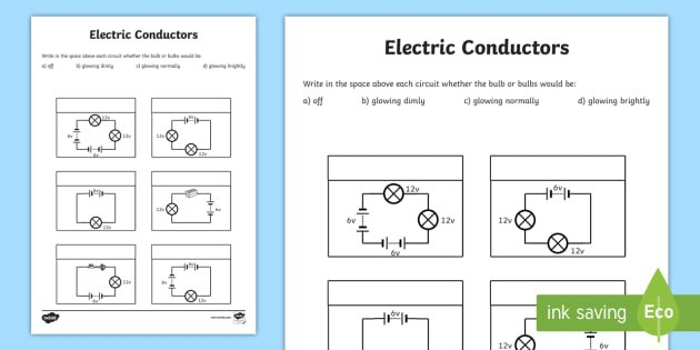 Electric Conductors Worksheets