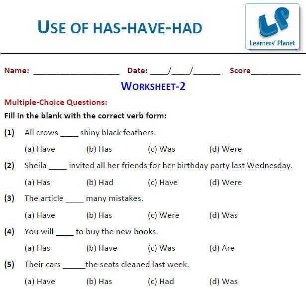 English Grammar Worksheets For Grade 3 Cbse