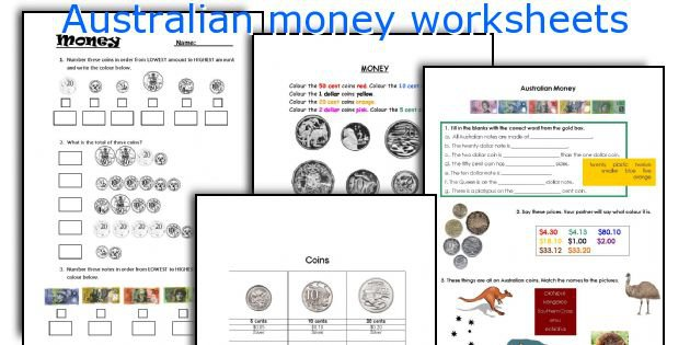 English Teaching Worksheets  Australian Money