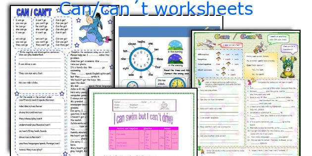 English Teaching Worksheets  Can Can´t