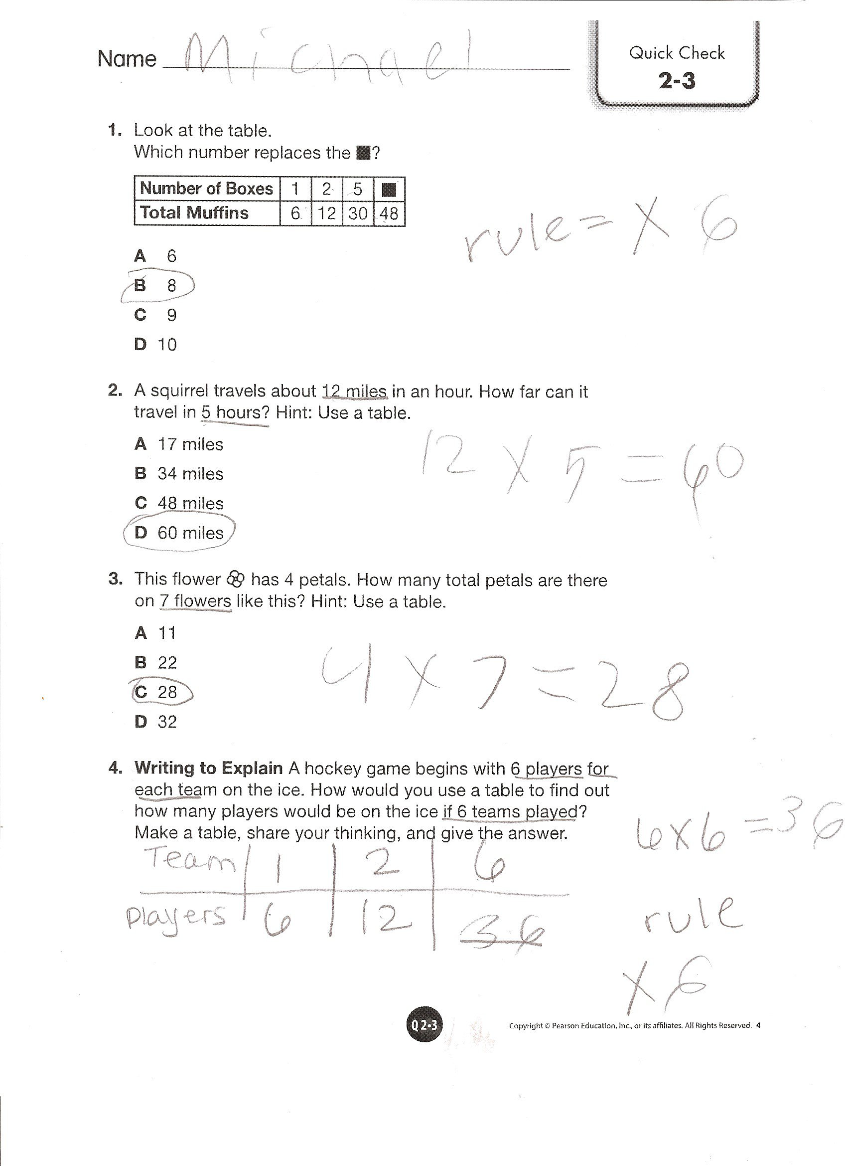 Envision Math Worksheets Grade 3rd For All