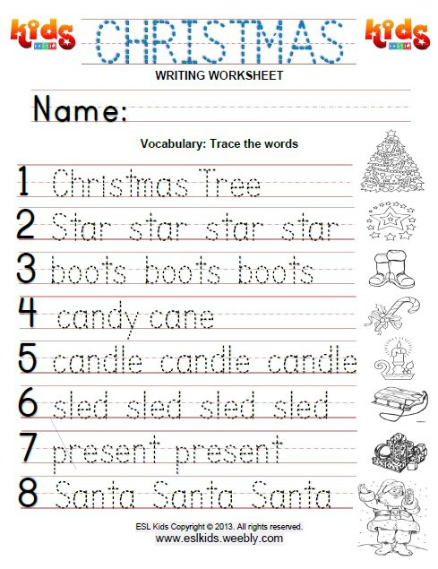 Esl Christmas Worksheets Worksheets For All