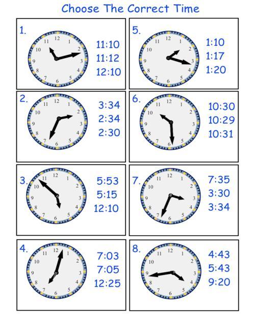 Esl Telling Time Worksheet Worksheets For All