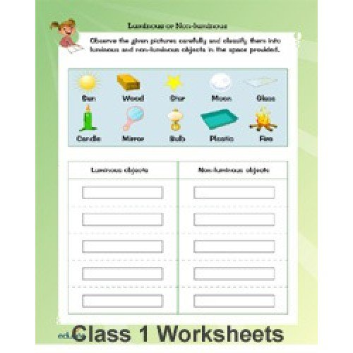 Evs Worksheets For Grade 1 Cbse