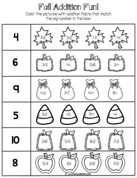 Fall Number Bond Practice! {free Printables!}