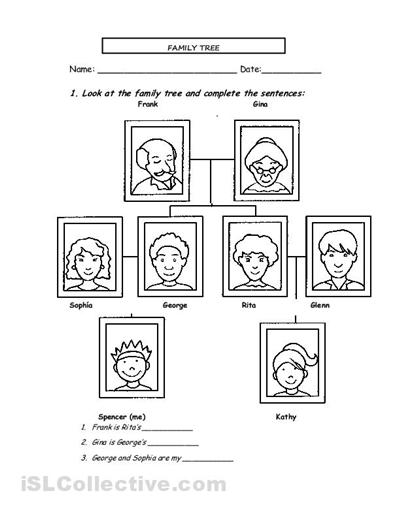 Family Worksheets For Preschoolers Pdf