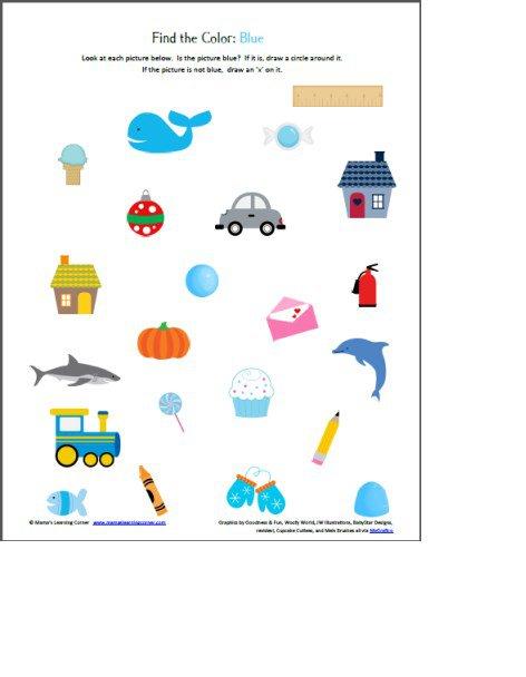 Find The Color' Worksheets