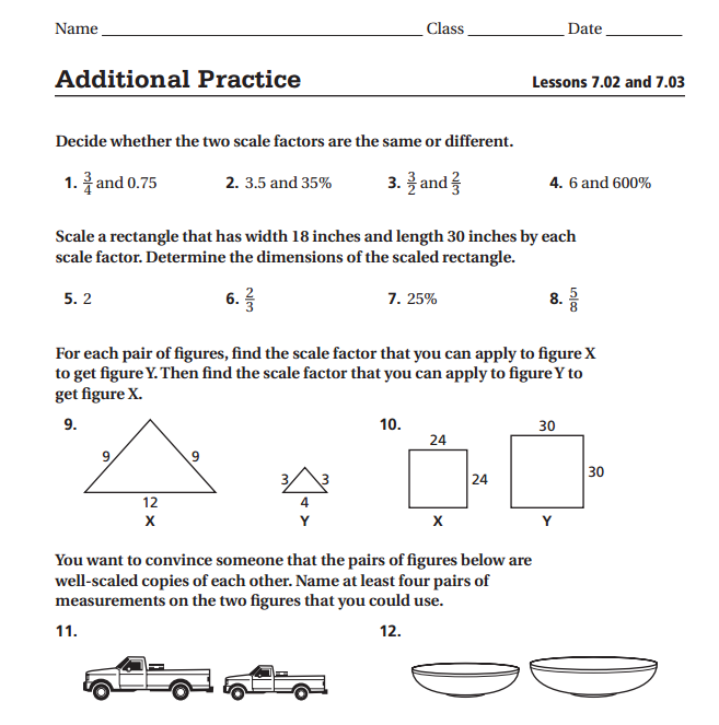 Finding Scale Factor Worksheet Worksheets For All