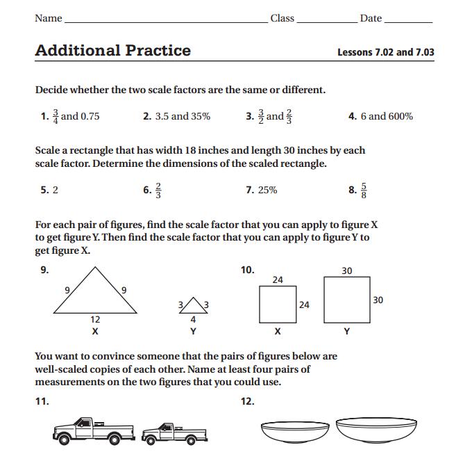 Finding Scale Factor Worksheet Worksheets For All