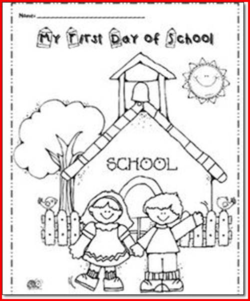 First Day Of School Worksheet Worksheets For All