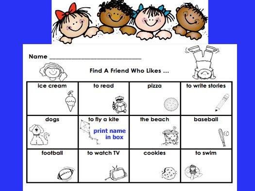 First Grade Best  Find A Friend