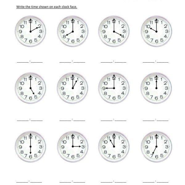 First Grade Reading Clocks Worksheet 05 – One Page Worksheets