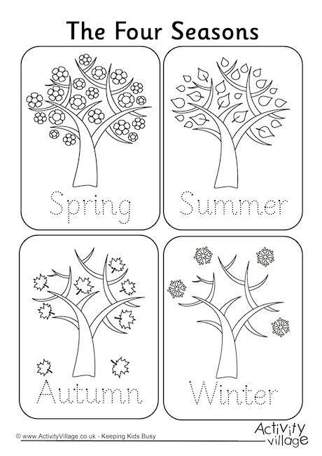 Four Seasons Handwriting Worksheet