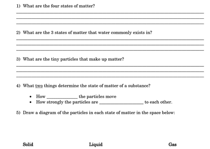Free 8th Grade Science Worksheets
