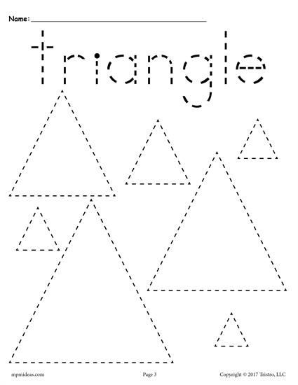 Free Preschool Tracing Shapes Worksheets  Includes A Triangle