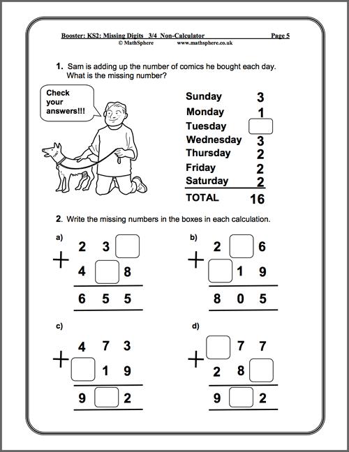 Free Printable Worksheets Year 2 Maths