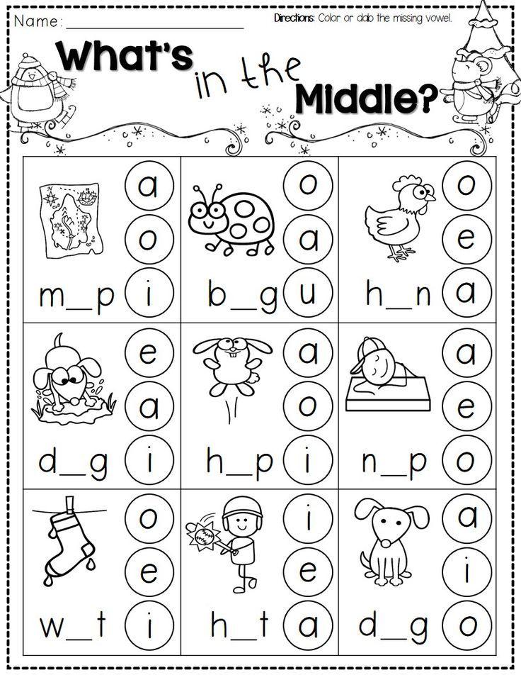 Free Printing Worksheets For Kindergarten Worksheets For All