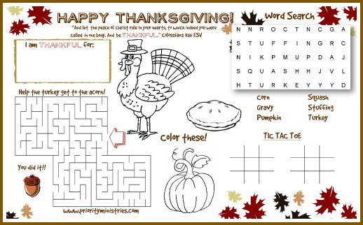 Free Thanksgiving Printable & Cute Ideas For Your Kids Table