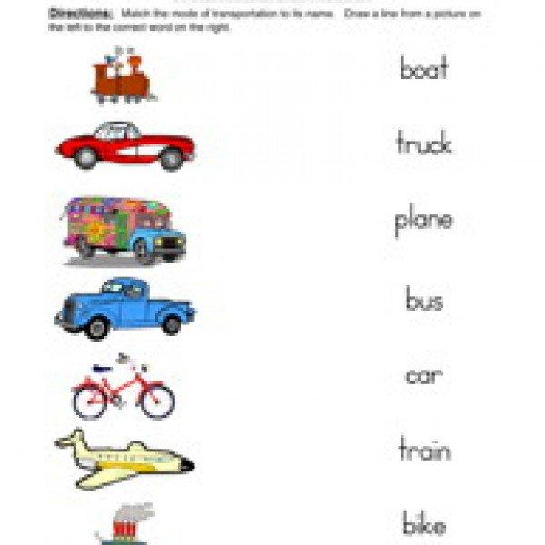 Free Transportation Worksheets For Second Grade