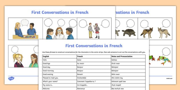 French Greetings Worksheet   Activity Sheet