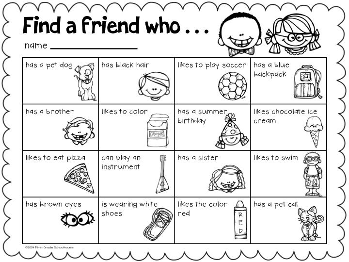 Friendship Worksheets For Kids